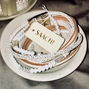 SAACHI Handmade Leather Double Wrap Bracelet, NWT